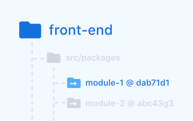 Photo demonstrates dependency module-1 is a submodule