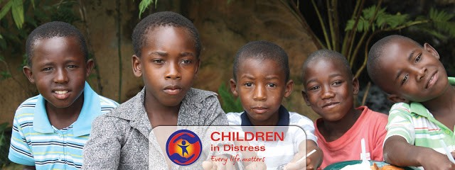 An image of children in distress from hunger, lack of medical care and war.
