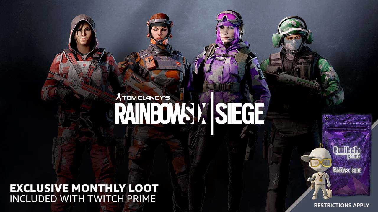 Get exclusive monthly loot in Rainbow 6 Siege with your