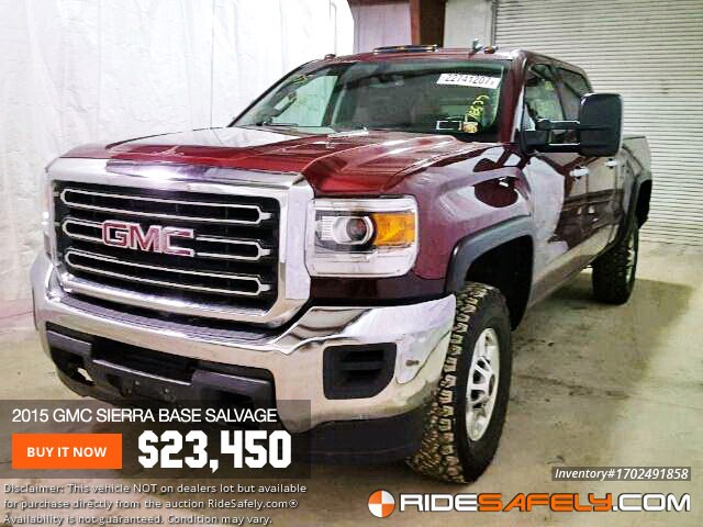 Sierra Auto Auction >> Shop For Used Salvage Gmc Sierra From Online Auto Auctions