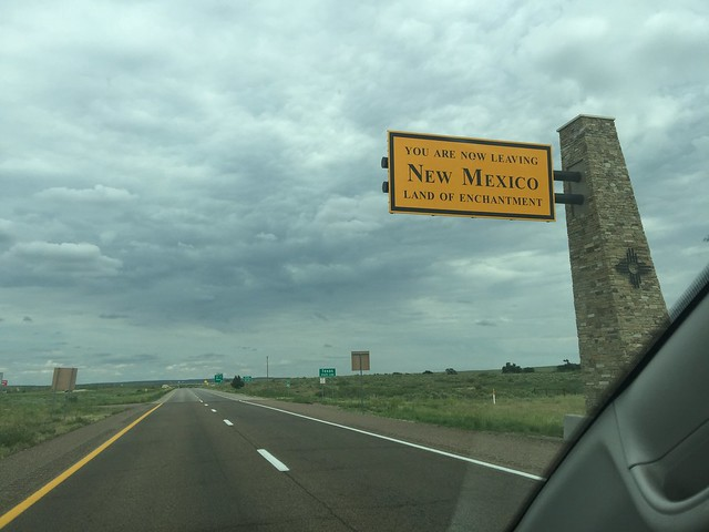 The view as you are leaving New Mexico Land of Enchantment