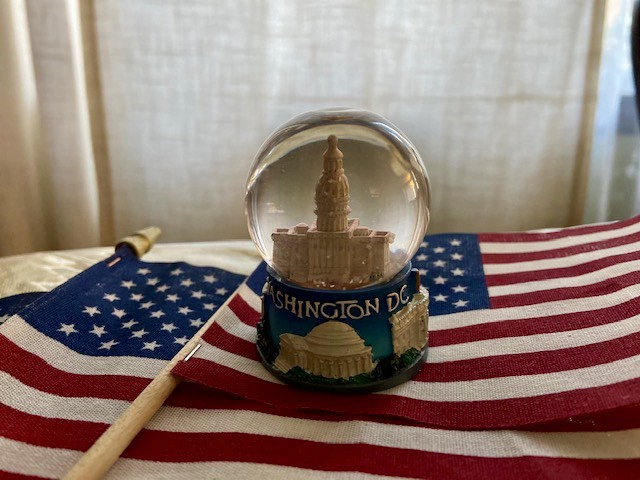 Democracy is as fragile as the snow globe of Washington, D.C., the U.S. capital. Photo by Francesca Di Meglio