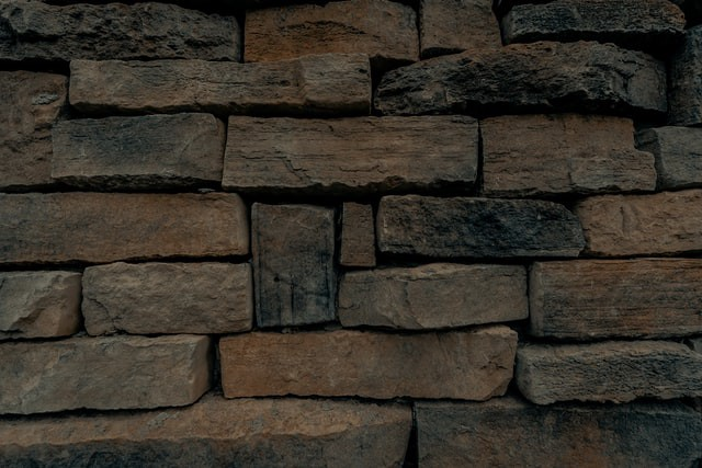 A wall made of stone
