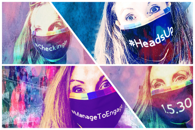 Pamela Hackett masks up with a message of tools to help manage to engage