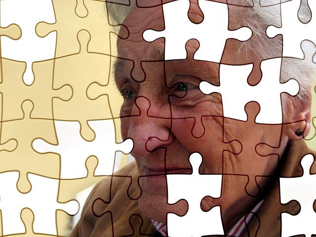 A dementia patient losing parts of her memory—Source—Pixabay