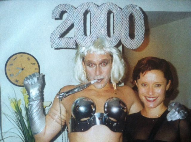 Photo of the author on New Years Eve, 1999, at a fabulous party.