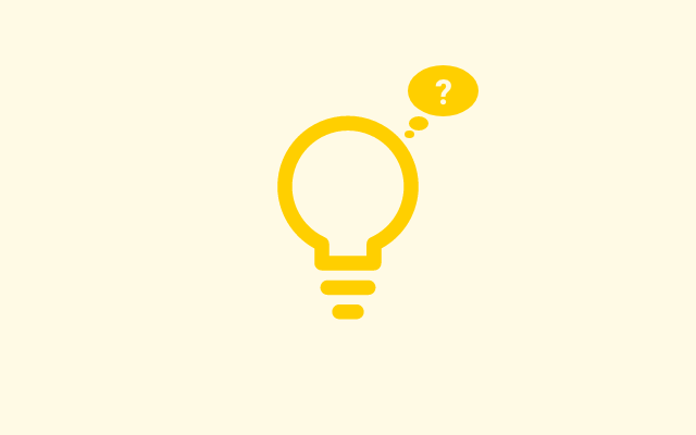 Drawing of a lightbulb using simple lines. Users can hardly guess what it is