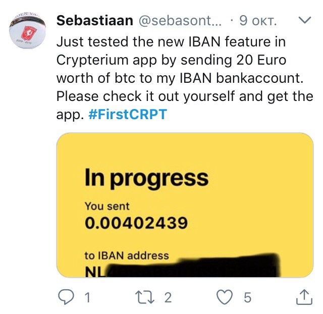 """You can now cash out your Bitcoin with Crypterium"""" — beta testers on"""