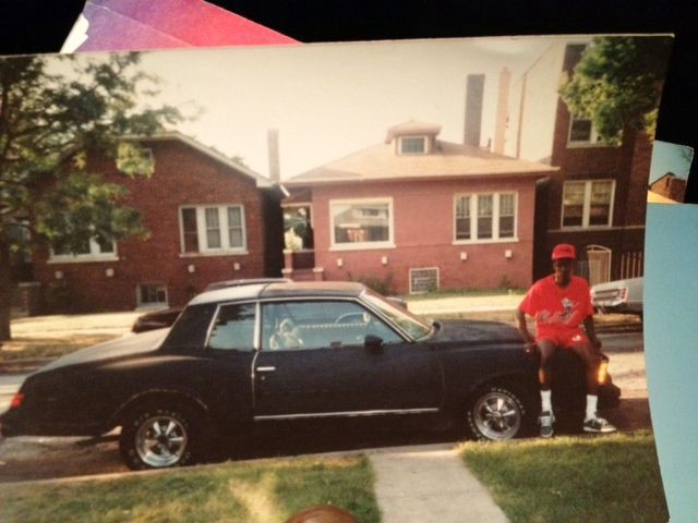 The author and his first car, a 1979 Chevy Monte Carlo, on a Chicago side street.