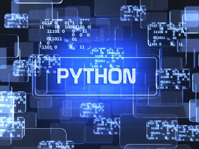Image of the word python within binary codes