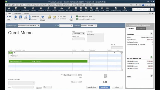How to write off Bad Debt in QuickBooks