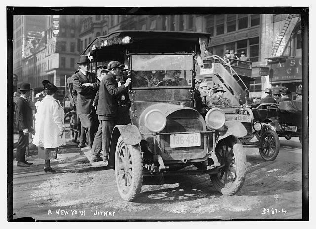 A Photo of a New York Jitney Cab Retrieved From the Library of Congress