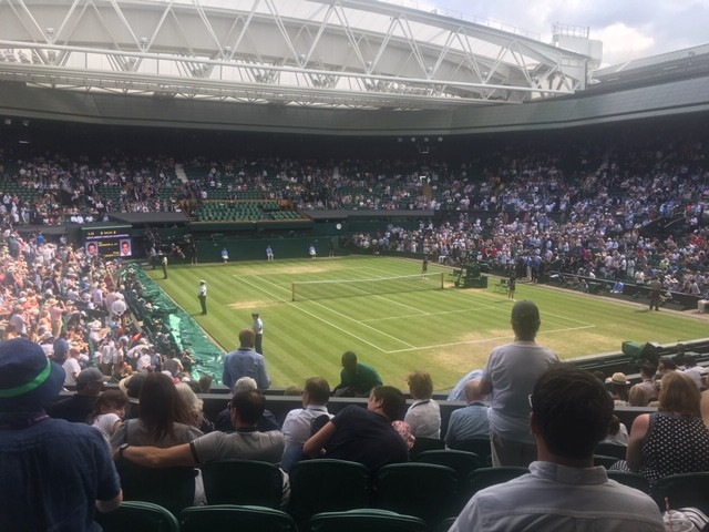 Center-Court semi-final between Federer and Nadal in July 2019
