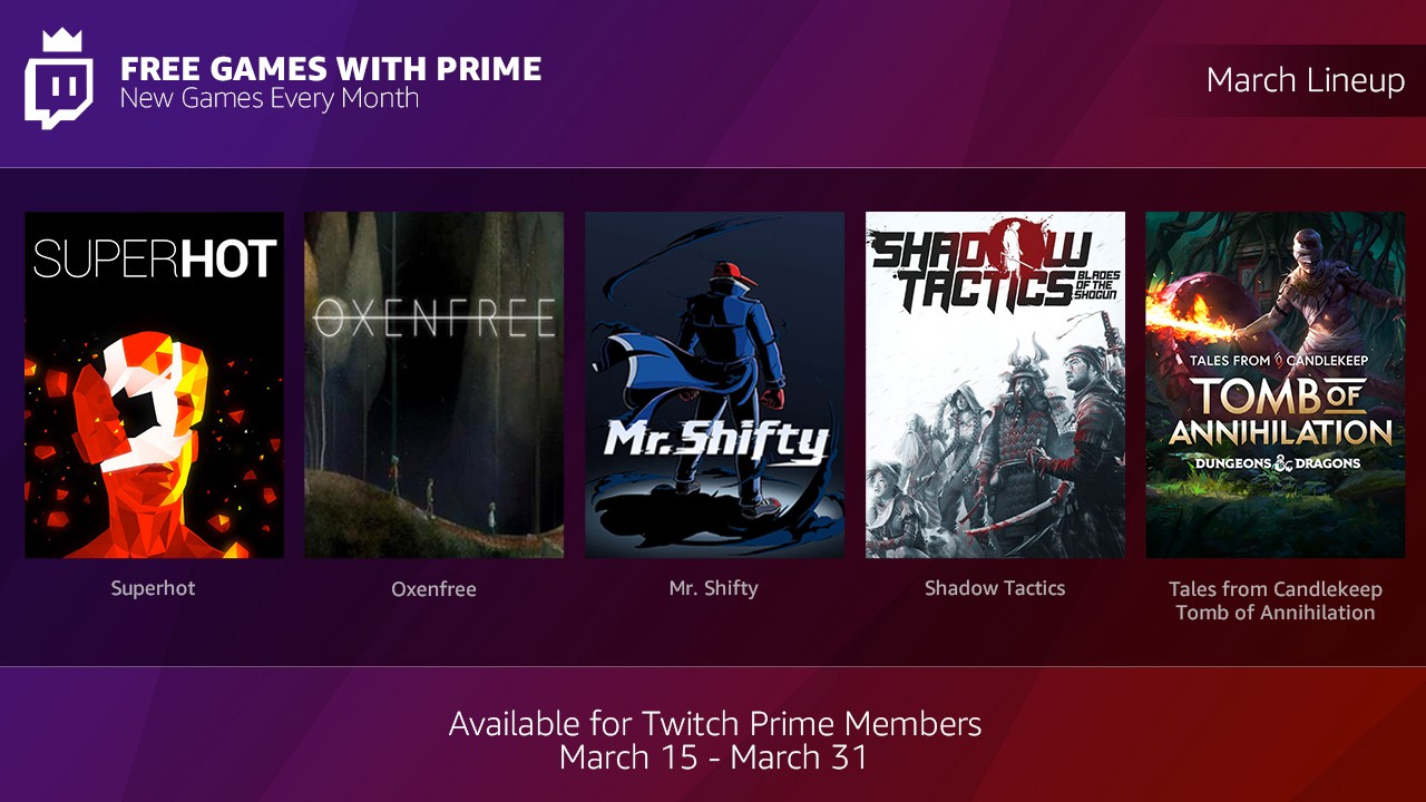 Level up your video game collection with Free Games with Prime!