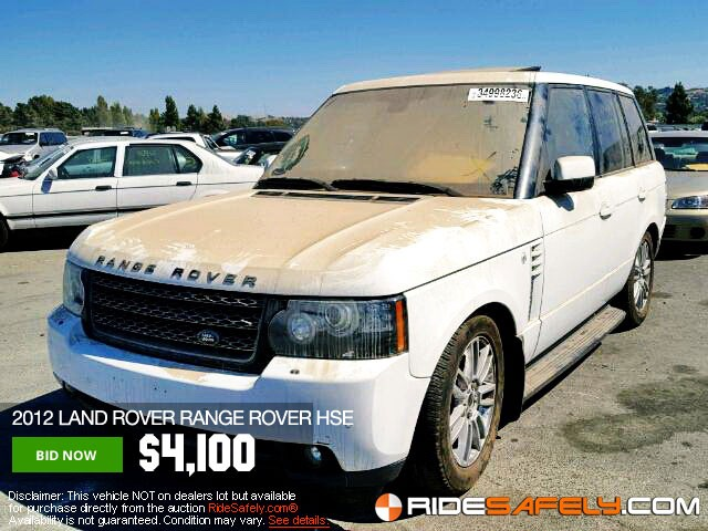 Online Car Auction >> Shop For Used Salvage Land Rover Cars At The Online Car
