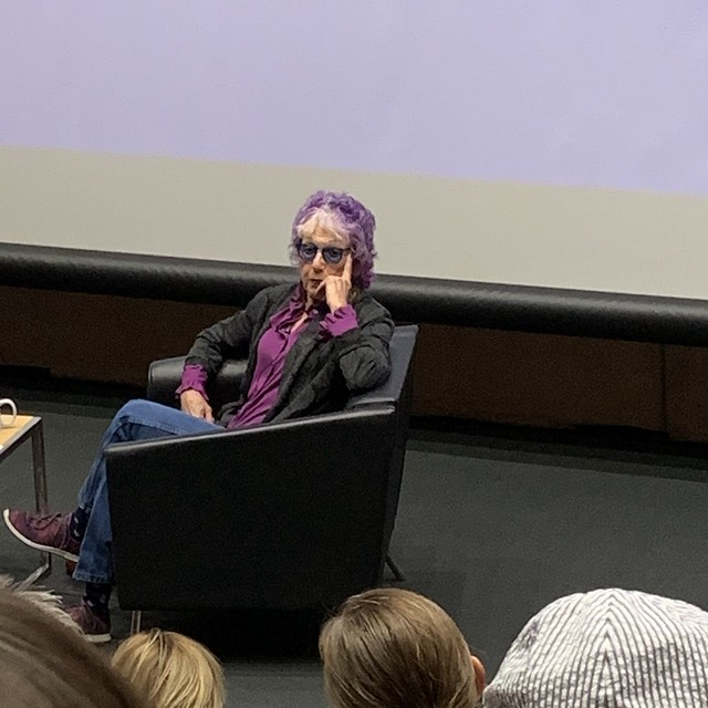 Judy Chicago at George Pearl Hall in June of 2019, Albuquerque, New Mexico