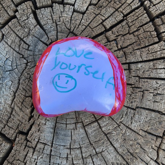 A #KindnessRocksProject rock found along the Alameda Drain in the Near North Valley of Albuquerque, New Mexico