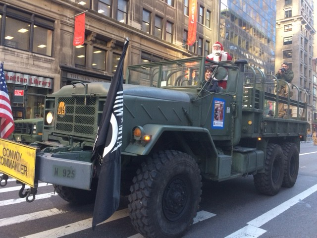 Vintage army truck, Veterans Day Parade, Manhattan, 2016