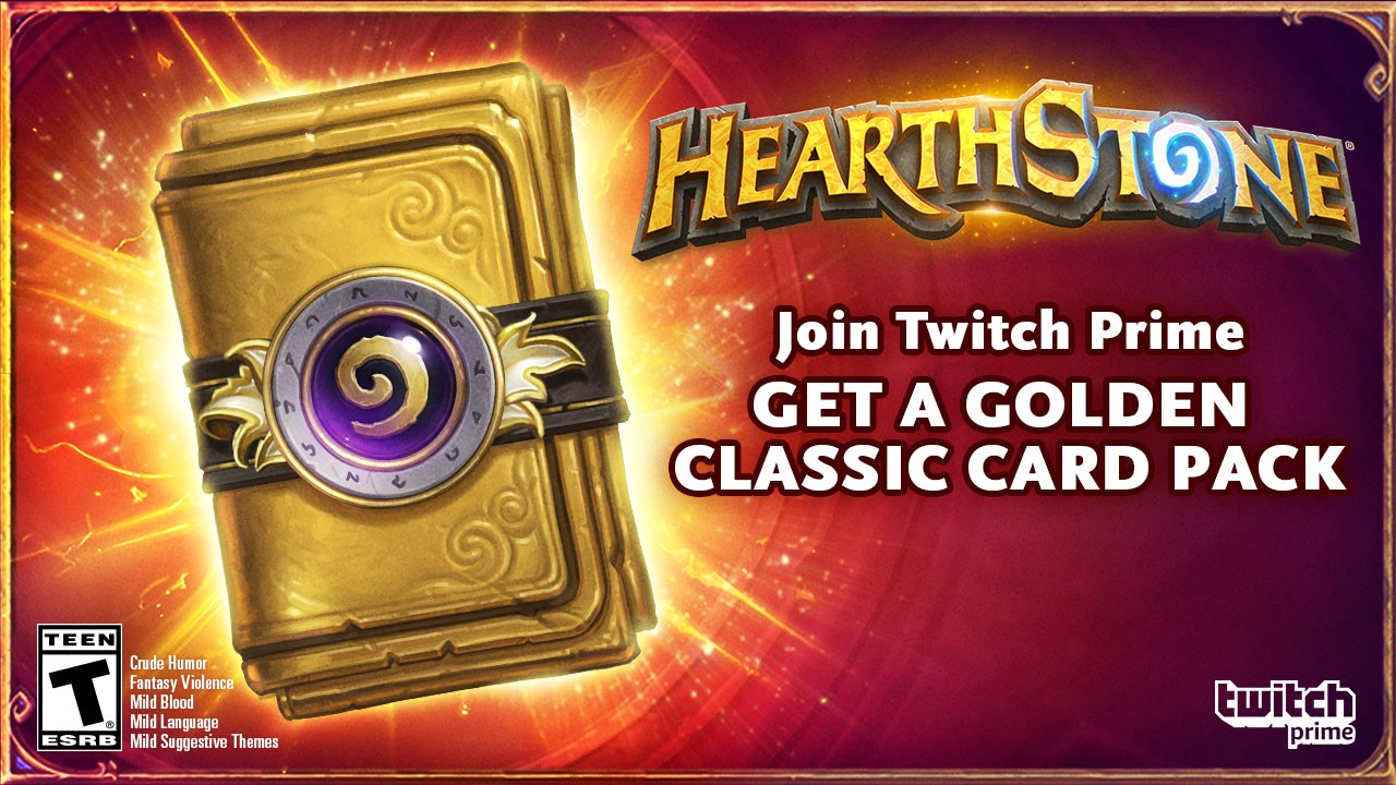 Twitch Prime members, get a Golden Classic Card pack in