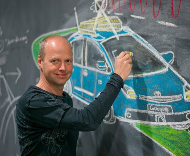Thrun allegedly moonlights as an artist in spare time. His favorite medium is chalk.