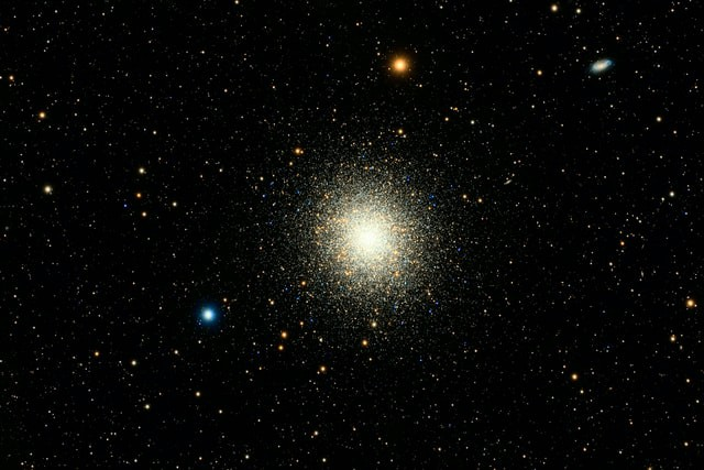Messier 13—the Great Globular Cluster in Hercules. The best known globular clusters in the northern hemisphere.