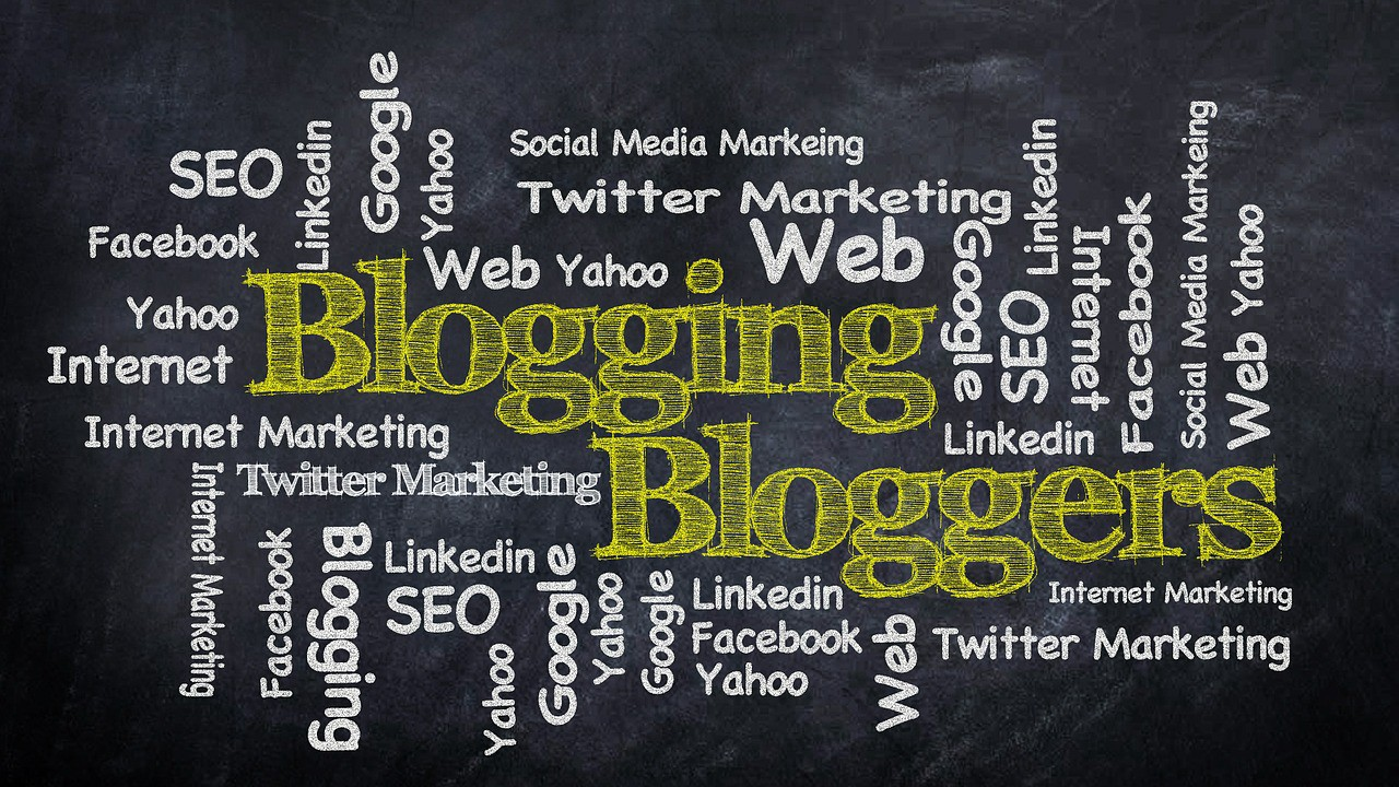 Word cloud for blogging and bloggers