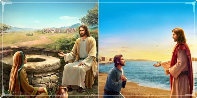 Peter-and-the-Samaritan-woman-recognized-God's-voice