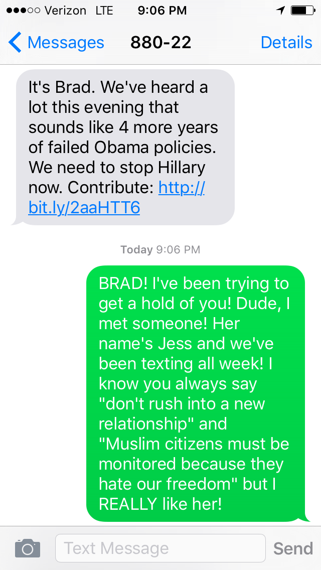 Emotional Responses to Trump Campaign Text Messages