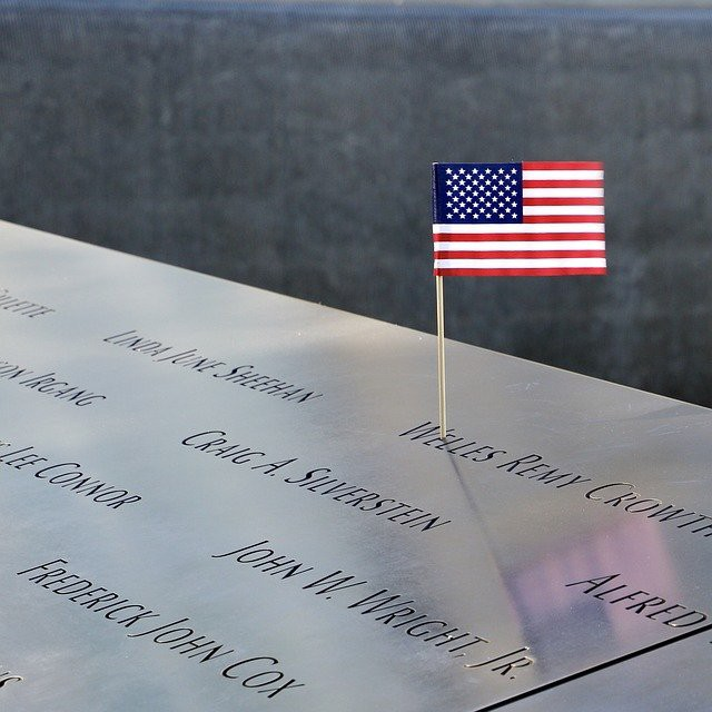 The World Trade Center memorial, Reflecting Absence, showing Welles Remy Crowther's name