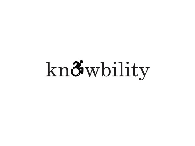 "knowbility logo with a disability symbol in place of the ""o"""