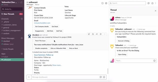 Manage your Hubspot and get lead/contact notifications in