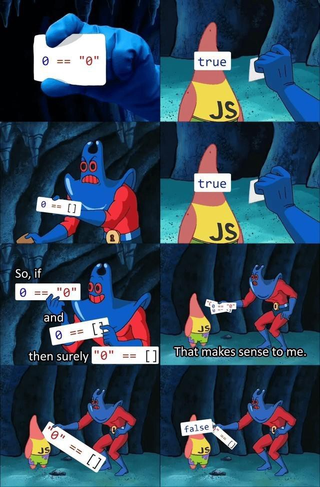 Patrick and javascript if conditions.