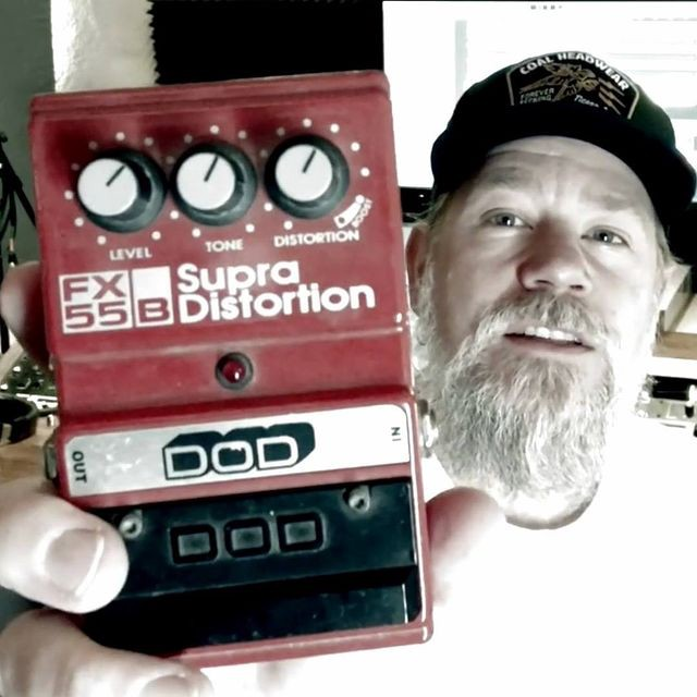 Andersson shows is DOD Supra Distorsion pedal.