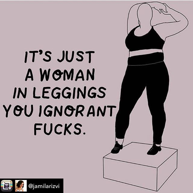 It's just a woman in leggings you ignorant fucks