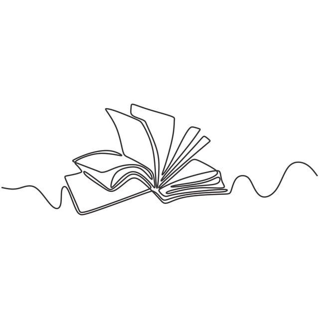 Illustration of an open book with pages