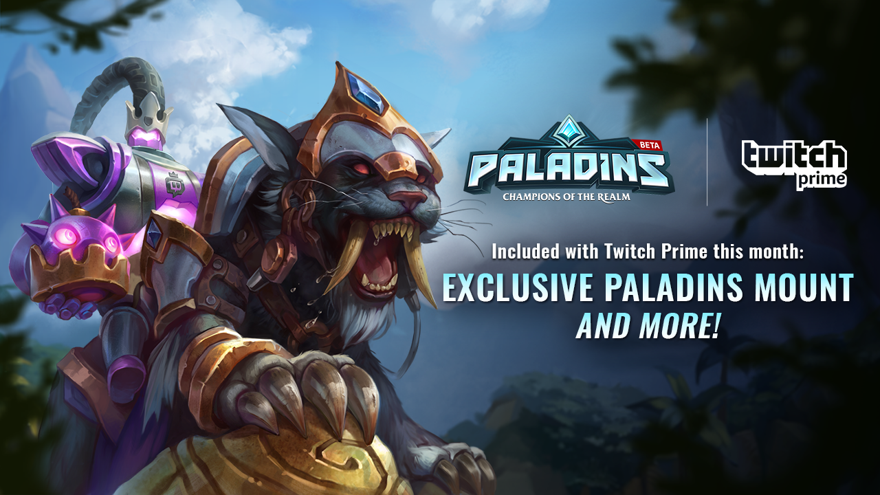 Twitch Prime Members, Enhance Your Paladins Experience with