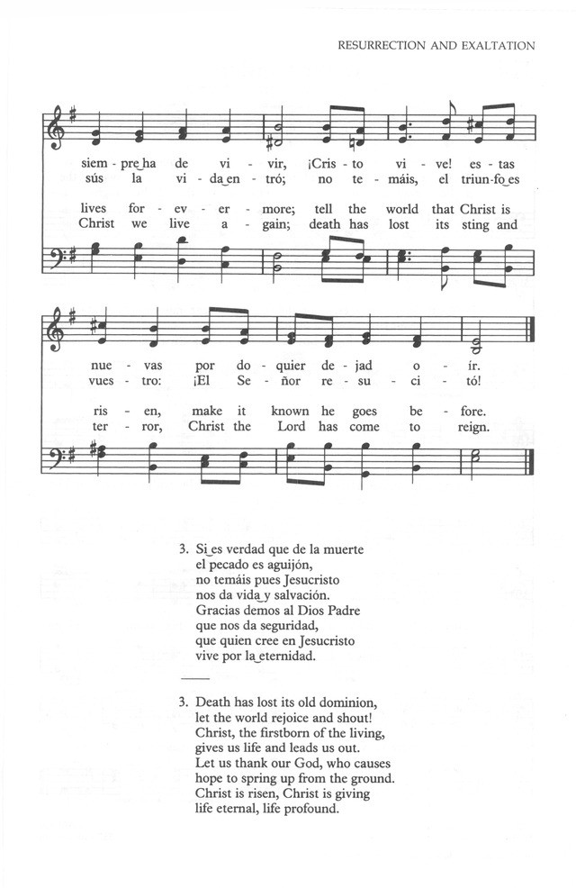 A Hymn for Easter: Christ is Risen! (Cristo vive!) - Reflections on