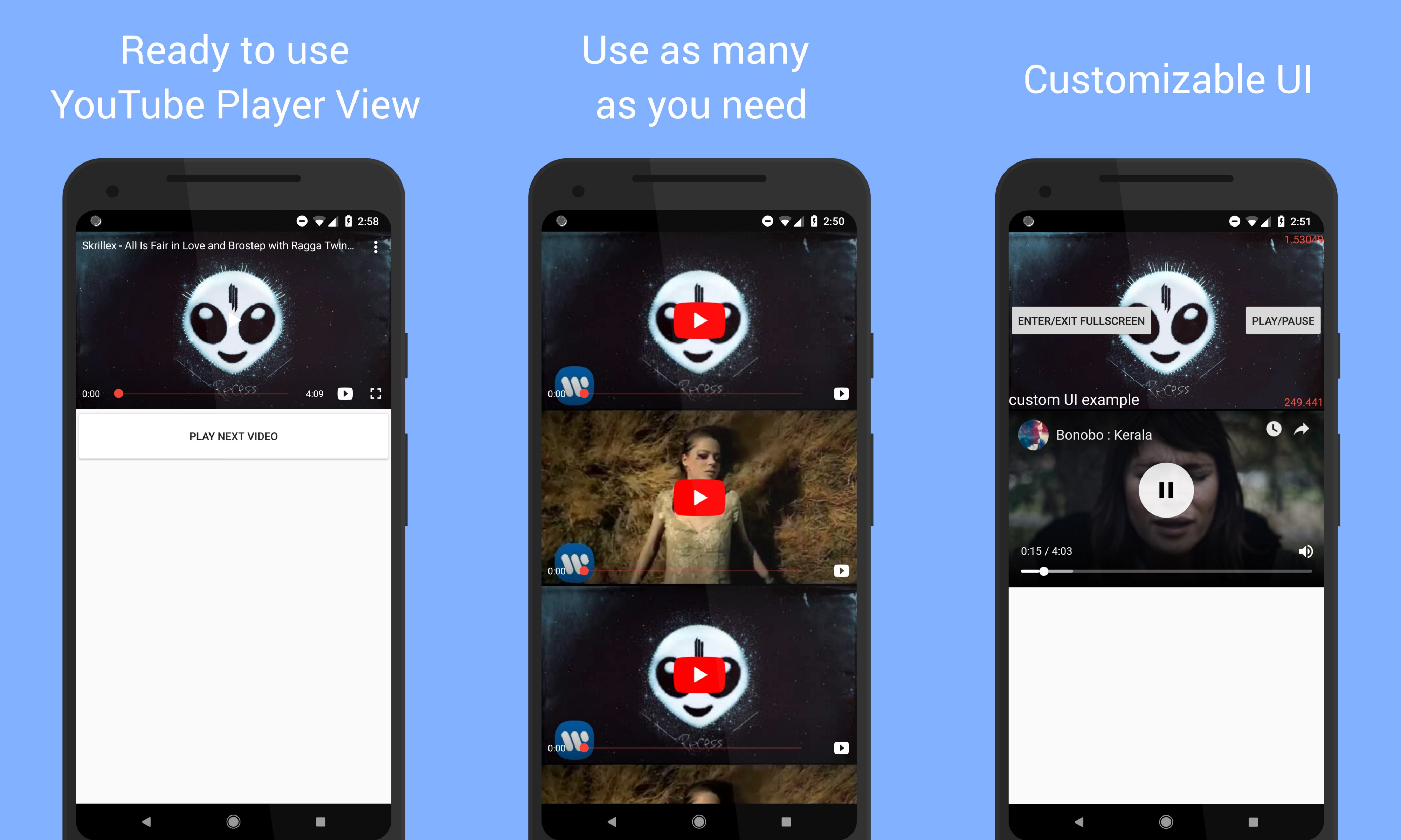 How to play YouTube videos in an Android WebView with just a