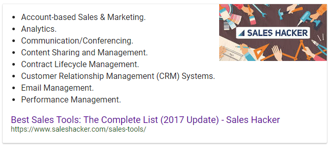 best sales tools snippet