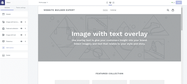 Shopify completely beats BigCartel with its user-friendly layout
