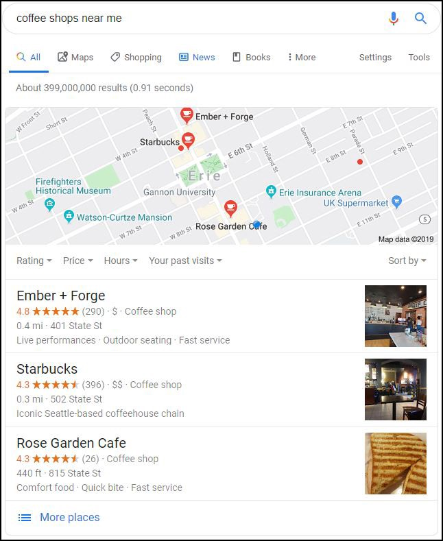 Google 3-Pack in Local Search Results | ASAPmaps