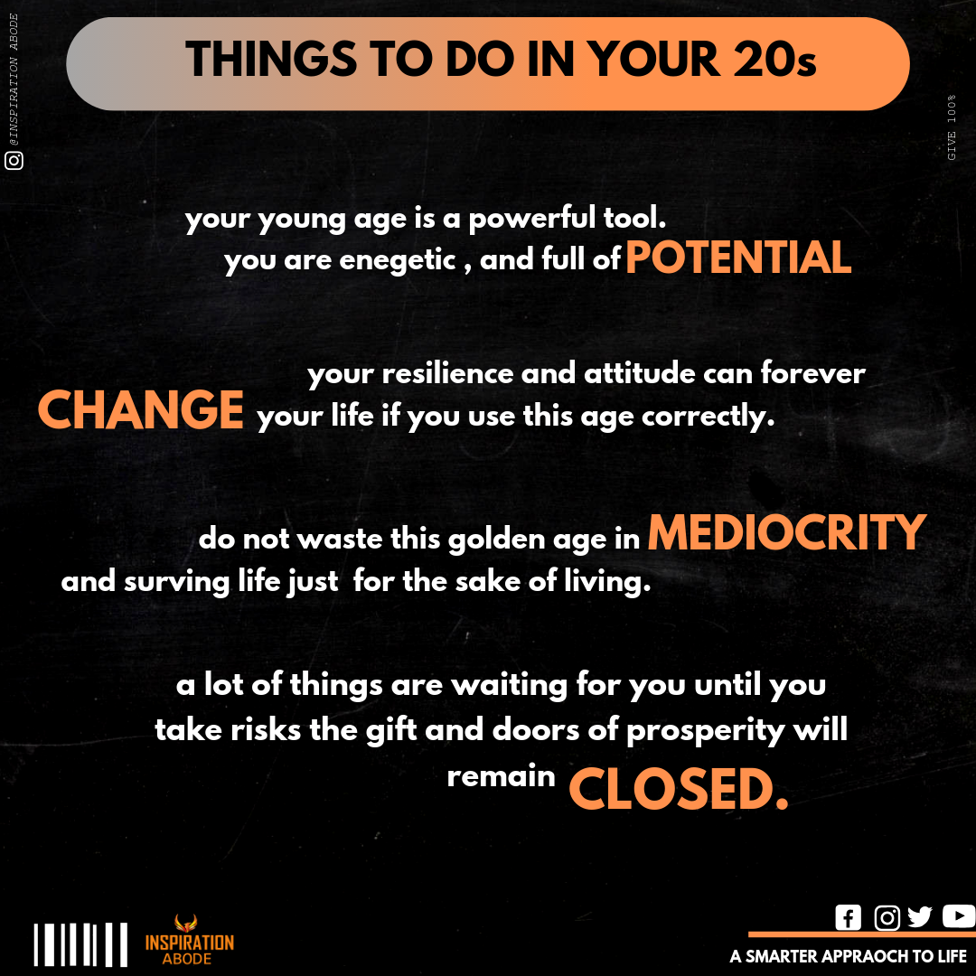 Mistakes To Avoid In Your 20s