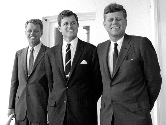 The three Kennedy brothers supplied by the Raymond Reggie family archives