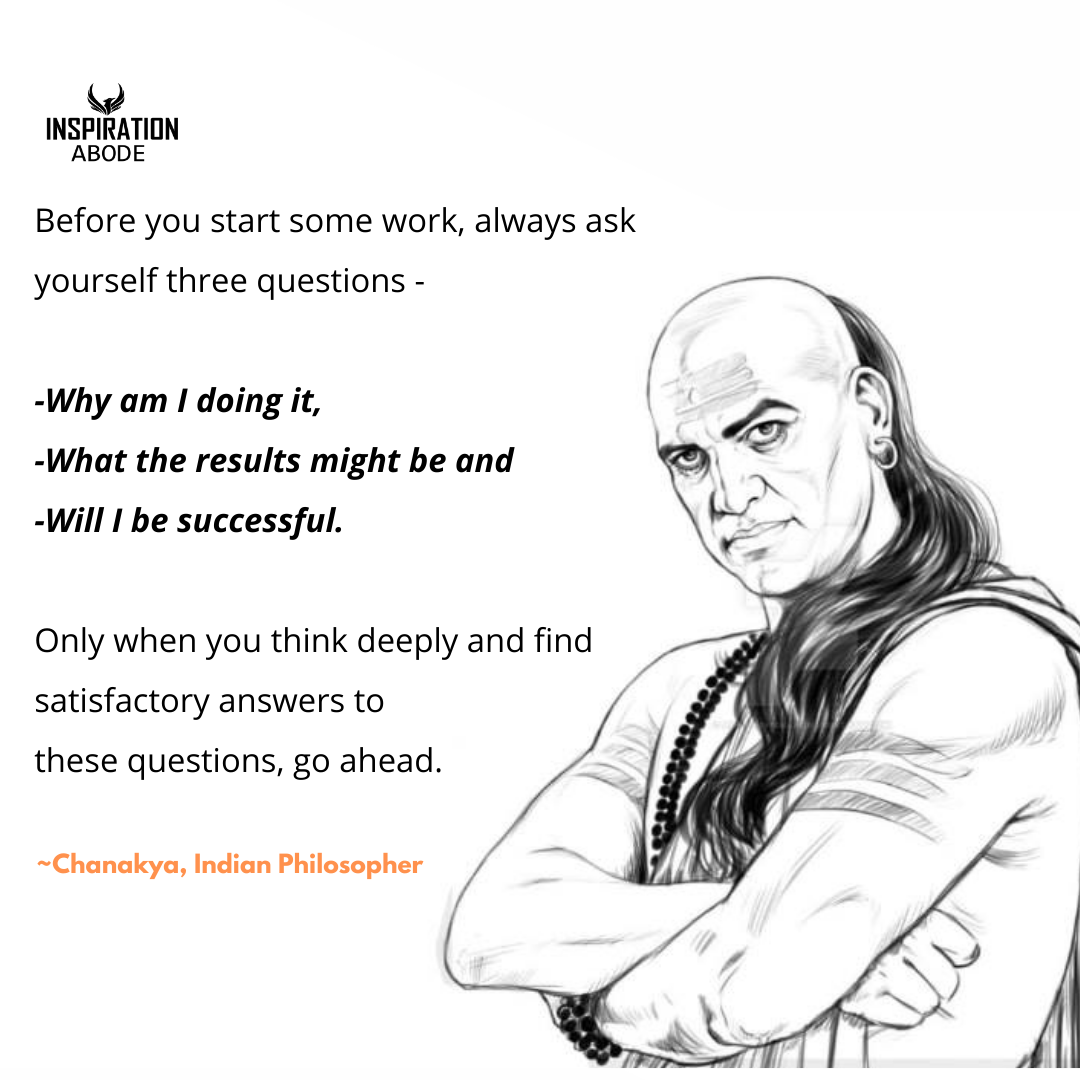 Chanakya Quote about Life, love and Relationships