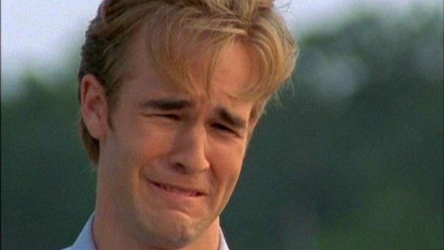 A popular meme, showing Dawson from Dawson's Creek crying. No text on image.
