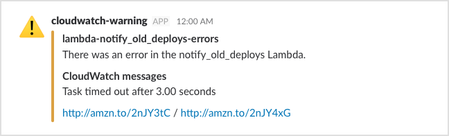 Getting helpful CloudWatch alarms in Slack - Stacks