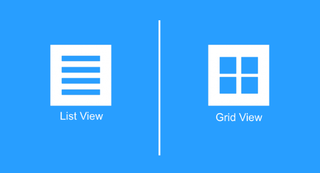 Mobile UX Design: List View and Grid View - UX Planet