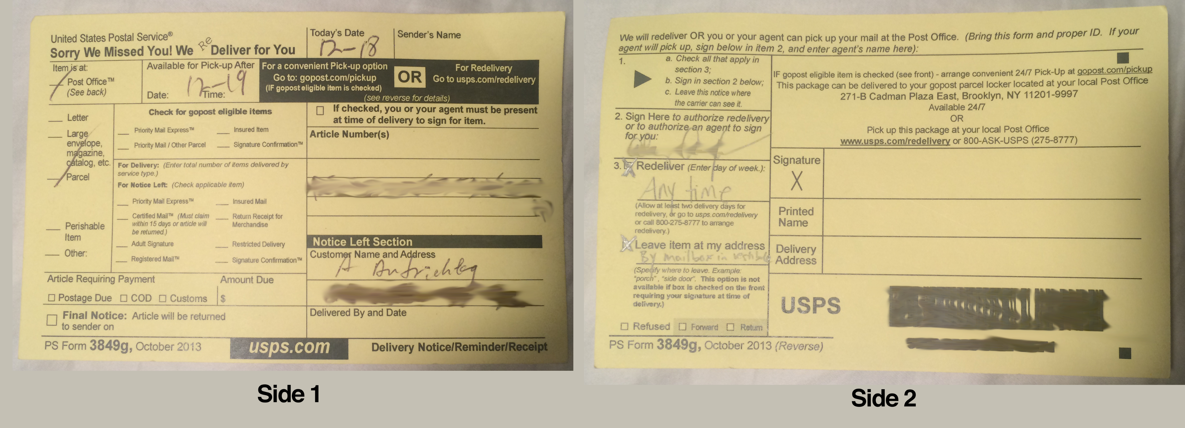 I redesigned the USPS package delivery slip  - The Startup