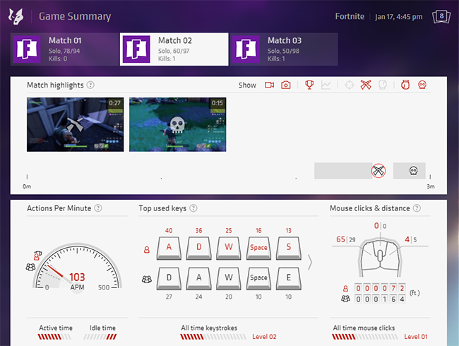 Our Game Summary now supports Fornite Battle Royale!
