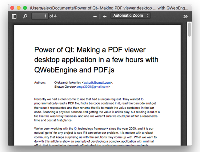 Power of Qt — Making a PDF Viewer Desktop Application in a